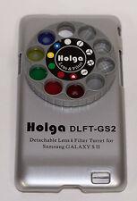 Holga Desmontable Lente Filtro Kit DLFT Para Samsung Galaxy Sii Plata