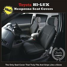 PREMIUM Waterproof Seat Cover Fits TOYOTA HILUX 2005-09 SR5 FRONT PAIR Black
