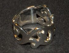 Silver Ring, Sz 6 - Rare! Htf! Silpada - R1200 - Scrolling Wide-Band Sterling