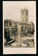Somerset AXBRIDGE Church and war Memorial c1920/40s? RP PPC Westfield 397