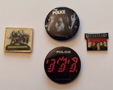 Lot 2 Pin's + 2 Badge The Police Supertramp Commitments Music Rock Film Cinema