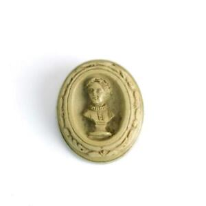 Antique Victorian Carved Lava Cameo of a Sculpture