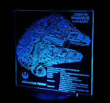Custom LED Display stand PLAQUE for lego 10179 75105 75212 Millennium Falcon.