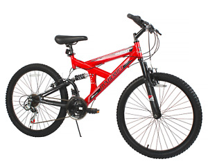 "Dynacraft 24"" Mountain Bike Sport Boys' Bicycle 18 Speeds Teens Bike, Red NEW"