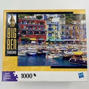 Big Ben 1,000 Piece Puzzle of Manarola Italy 100% Complete Made In USA Preowned