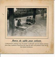 PARIS c. 1910 - Bancs de Sable pour Enfants  Jardin du Palais-Royal - 68