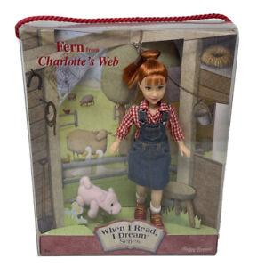 CHARLOTTE'S WEB FERN DOLL WHEN I DREAM I READ TIMELESS TREASURES MATTEL 50724