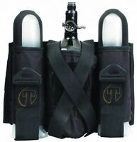 New Tippmann 2+1 Paintball Pod Harness / Pack w/ Tank Holder - Black