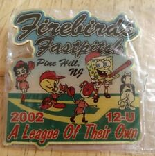 New listing 2002 Firebirds Fastpitch Nj Softball Pin - New - Betty Boop Tweety SpongeBob