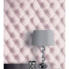 DESIRE CHESTERFIELD LEATHER EFFECT WALLPAPER BLUSH PINK - ARTHOUSE OPERA 618103