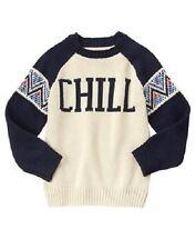 Gymboree Boys Snowflake Fun Chill Navy & Ivory Winter Sweater Boy Size 5-6 NEW