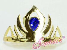 """Elsa Gold Tiara with Frozen Blue Jewel fit 18"""" American Girl Doll Crown Princess"""