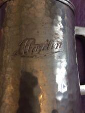 Vintage Pewter Beer Mug Pot Tankard Viners of Sheffield Engraved Name Of Martin