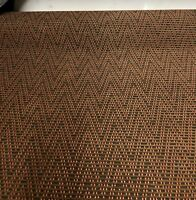 TERRACOTTA FR CHENILLE LUXURIOUS UPHOLSTERY FABRIC 0.9 METRES