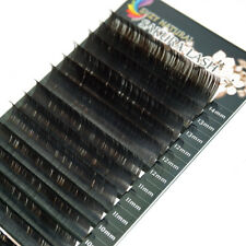 Dark Brown Individual Mink Eyelash Extensions C/D Curl 0.07/0.15 Mixed Lengths