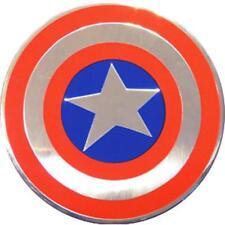 CAPTAIN AMERICA Shield On Silver Metal New Sticker/Decal Marvel Comic super hero
