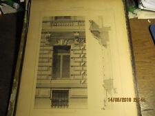 Planche Hôtel Avenue Louise à Bruxelles - Fenêtre rez-de-chaussée 1892