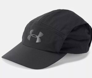Under Armour SPF Ultralight Fishing Cap 1305013 001 OSFA Strapback Running Hat