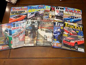 TRUCKIN' Magazine Lot 2007-2012 Sport Truck Custom Hot Rod Lot Of 12