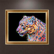 DIY 5D Diamond Embroidery Painting Leopard Cross Stitch Craft Kit Home Decor