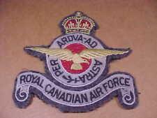 Original WWII Royal Canadian Air Force Gray Uniform Patch RCAF Flight Jacket