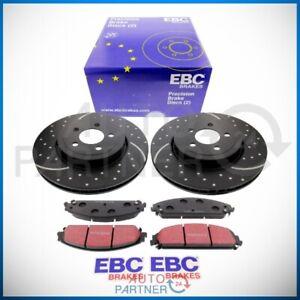 EBC für CHRYSLER 300C Bremsscheiben Beläge vorne Turbo Groove Ø345  Blackstuff