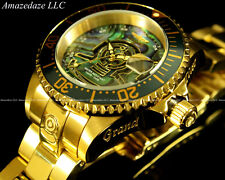 Invicta Women Gold Plated Stainless NH 35A Auto Grand Diver Abalone Dial LE Watc