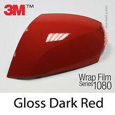 152x500cm LÁMINA Brillante Rojo Oscuro 3M 1080 G83 Vinilo CUBIERTA Car Carcasa