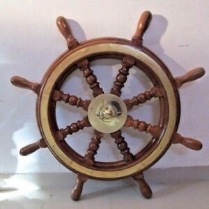 Vintage Style ship's STEERING - HELM - Wooden & Brass - 2.5 Feet - LARGE (2478)
