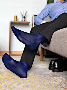 Men Tube Socks Stocking Business Dress Stockings See-through Breathable