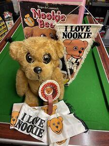 Super Rare Original 1970's Nookie Bear Boxed Puppet Bear With Rare Extras