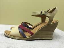 Timberland Earthkeeper 8002A Wedge Heel Women's Leather Sandals size 9.5