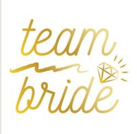 Team Bride Gold Temporary Tattoos Bride To Be Hen Party Do Tribe Squad