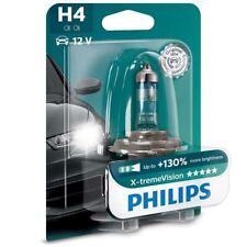 PHILIPS H4 X-TREME VISION Auto Lampadina Del Faro 130% di luce 12342XV+B1 SINGLE