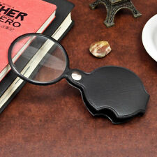 Pocket 5X Jeweler Eye Loupe Magnifier Magnifying Glass In Leather Case Gift