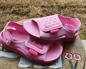"Nike Sunray Adj 5 ""Vivid Pink"" Girls' BRAND NEW Toddler 5C, 6C, 7C, 8C & 9C"