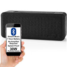 30W EQUALIZED Bluetooth Speaker -BLACK- Wireless Portable Rechargeable BASS AUX