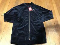 Nike Air Jordan Mens Size Small Velour Full-Zip Jacket Black AH2357-010 A1003