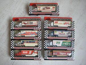 Matchbox Convoy Kenworth JOB LOT of 9 Models Nascar Boxed Whiterose USA 170mm D