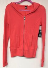 Womens Jacket By Fox Racing Hooded Full Zip-Thumb Holes- Retail $69.50 Size XS