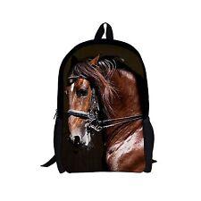 Animal Horse School Bag Backpack Teenagers Boys Kids Fashion Shoulder Bookbag