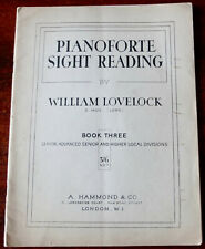 WILLIAM LOVELOCK PIANO SIGHT READING SENIOR ADVANCED SHEET MUSIC BOOK 3 (1946)