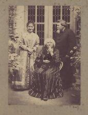 Père Mère et fille Photo Famille Vintage albumine ca 1880