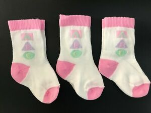 3 X Pairs Baby Girl Newborn socks 0-2.5 0-3 months pink or blue boys