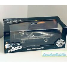 JADA Toys DOM'S 1970 DODGE CHARGER FAST & FURIOUS 1:24 Limited Chrome Edition
