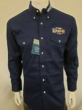 NWT Wrangler NFR BLUE Logo Rodeo Western Embroidered Long Sleeve.(M) Shirt