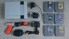 Original NES Nintendo Console Lot - Includes 6 games, 2 controllers, and cables