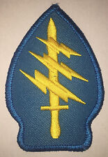 US ARMY SPECIAL FORCES SWORD AND LIGHTNING BOLT REPRO PATCH NEW (A161)