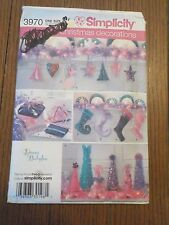 Simplicity Christmas Holiday Decorations Donna Babylon Pattern Uncut #3970