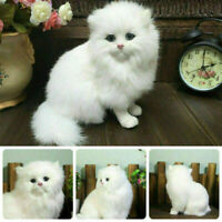 2020 Simulation Realistic Persian Cat Kids Animals Stuffed Plush Toy Fluffy Doll